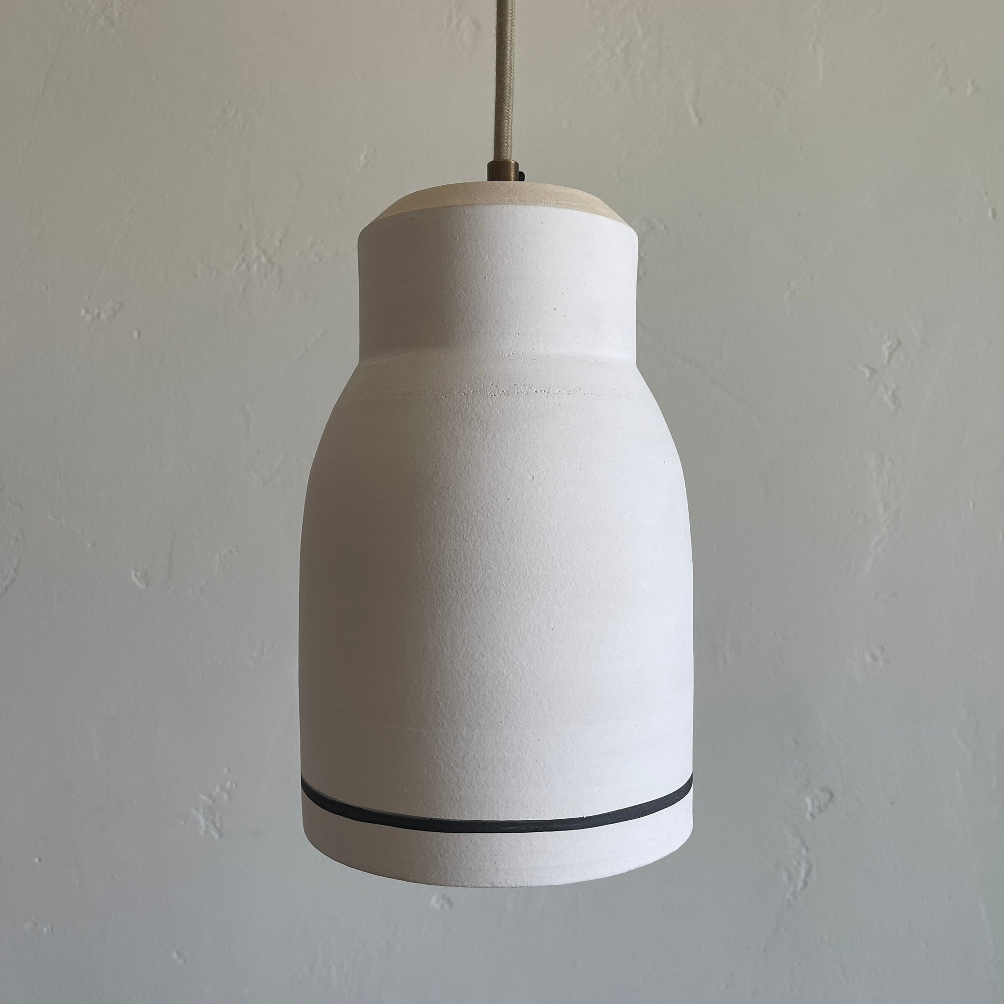 Hanging Bell Pendant Lamp with Stripe