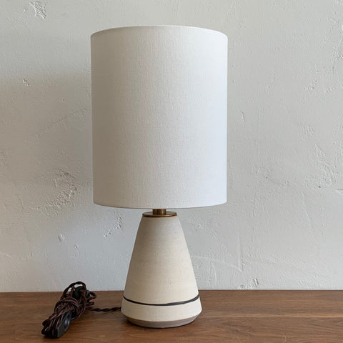 Angled Lamp - Salt with Iron Stripe