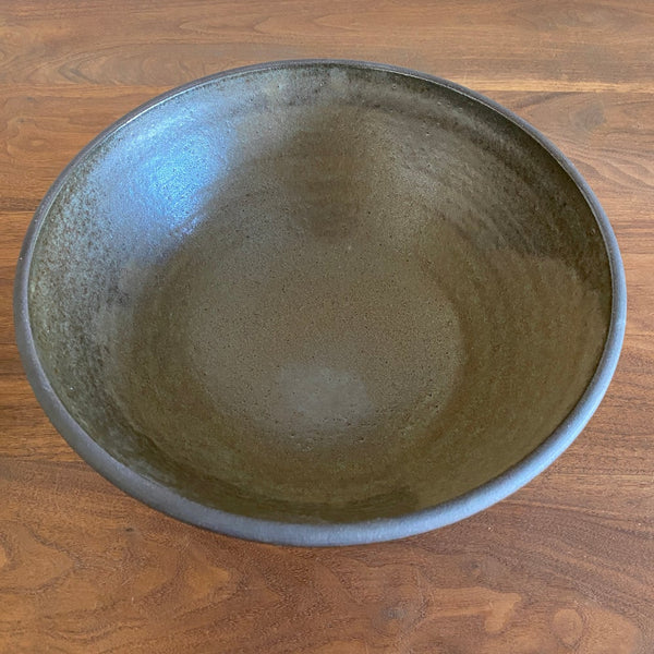 Olive Green Serving Bowl