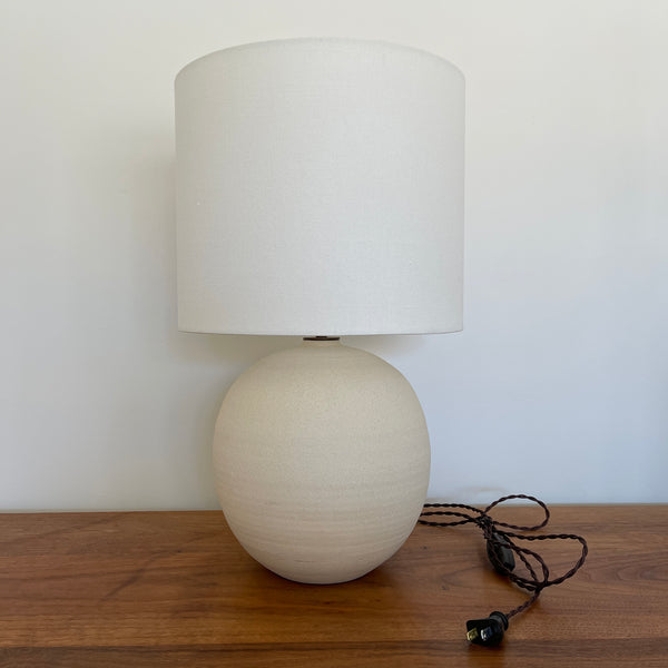 Large Orb Lamp in Chalk