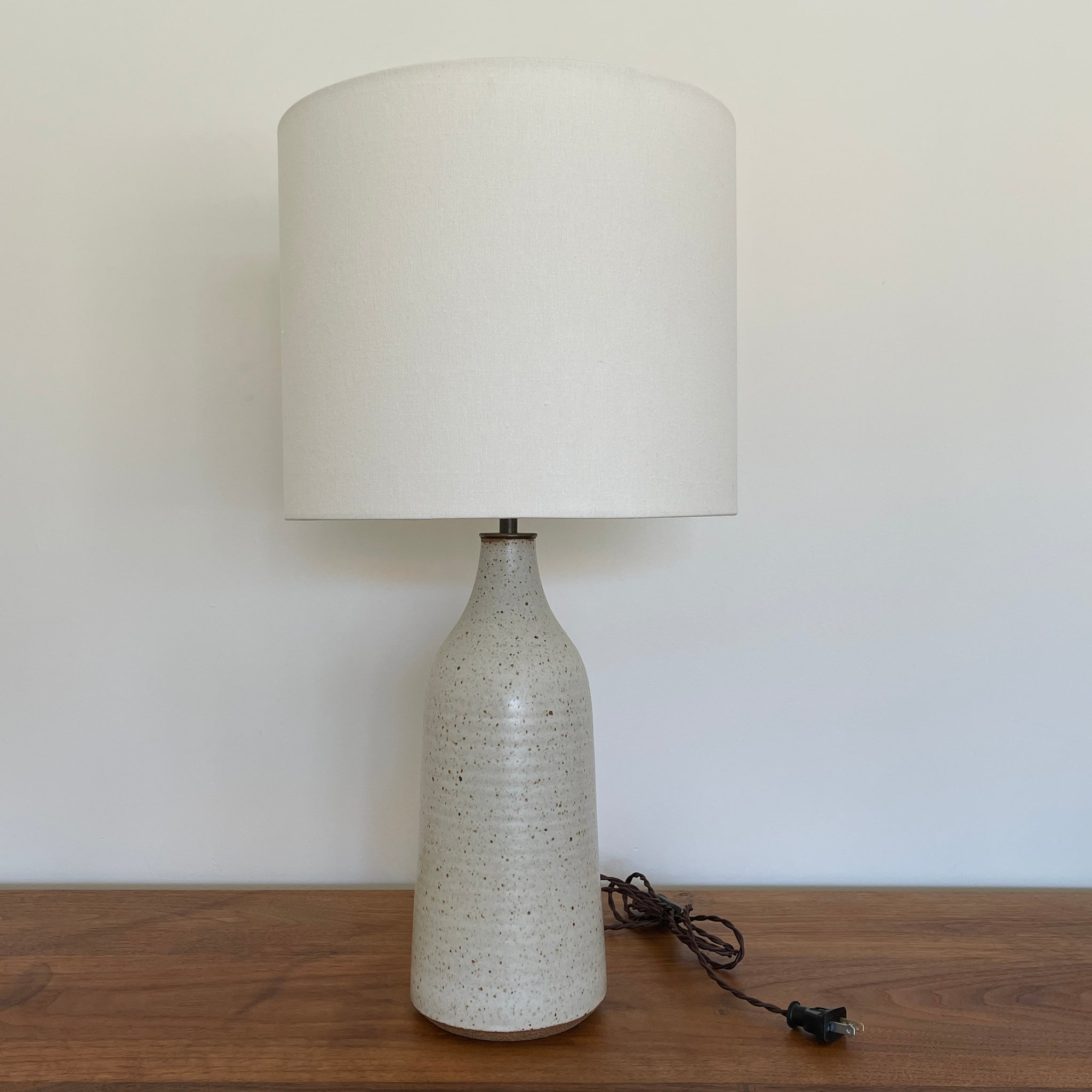 Bottle Lamp in Speckled Ivory