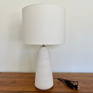"23"" Matte White Thimble Lamp"
