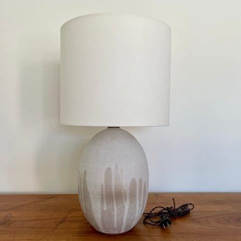 Large Poured Birch Oval Lamp