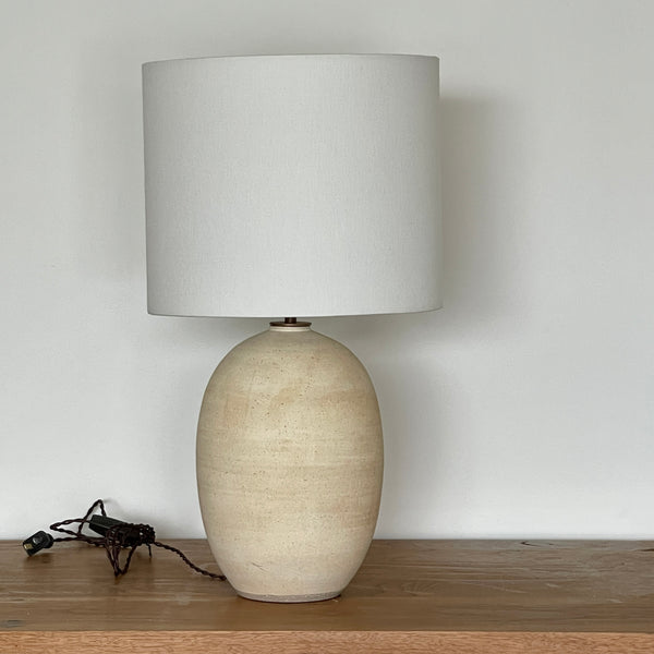 Oval Lamp in Matte Ivory