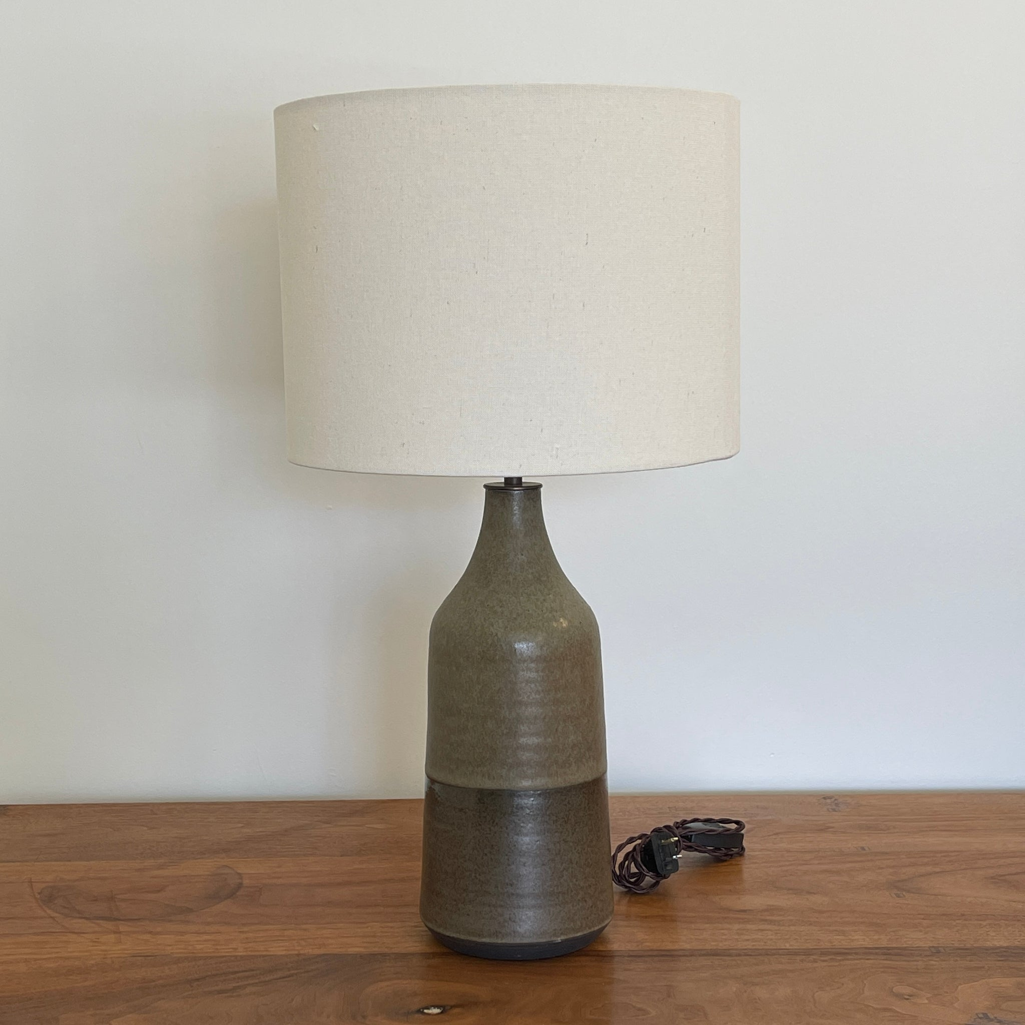 Large Bottle Lamp in Tortoise Shell