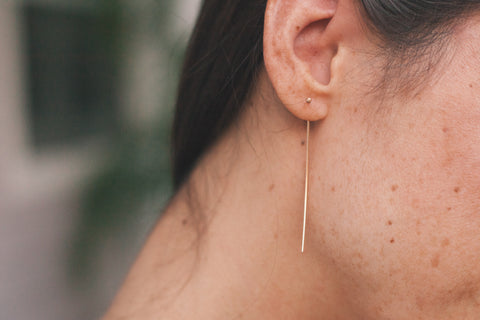 Long Stud Earrings