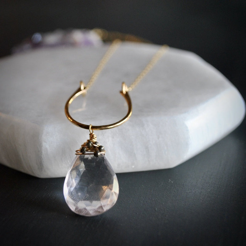 Amethyst Pendant Necklace - Fire + Mineral
