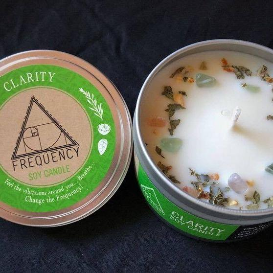 Clarity Crystal Soy Candle - Fire + Mineral