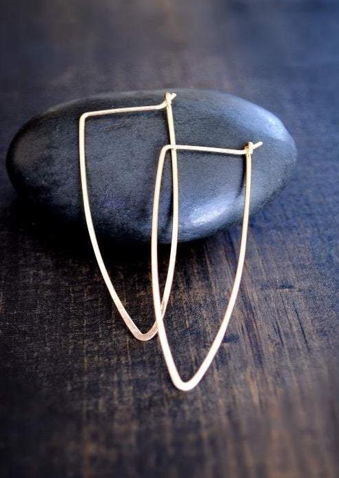 Dagger Hoop Earrings - Fire + Mineral