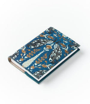 Fauna Leather Journal - Blue Peacock - Fire + Mineral