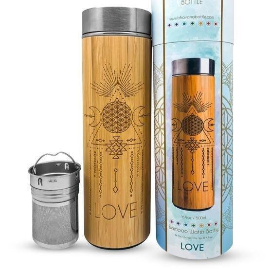 LOVE Bamboo Water Bottle - Fire + Mineral