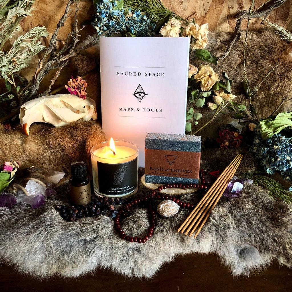 Magic Fairy Candles - Sacred Space Ritual Kit - Fire + Mineral