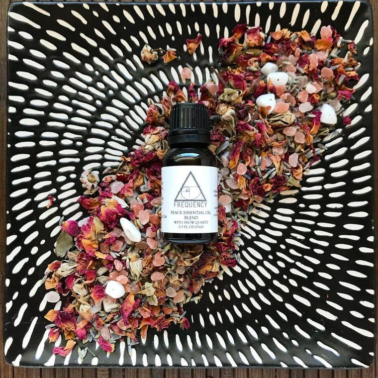 Peace with Snow Quartz Essential Oil - Fire + Mineral