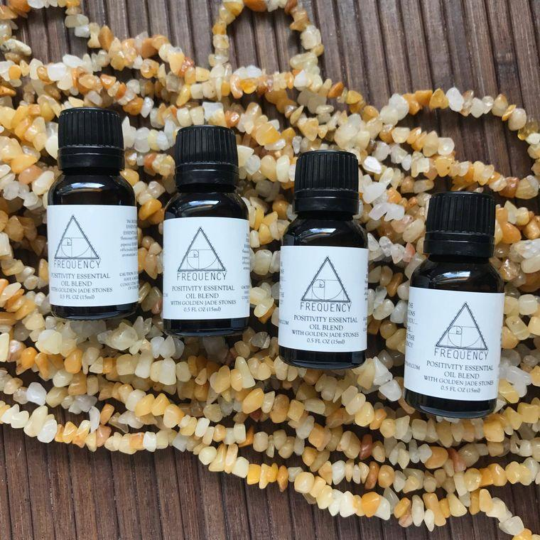 Positivity with Golden Jade Essential Oil - Fire + Mineral