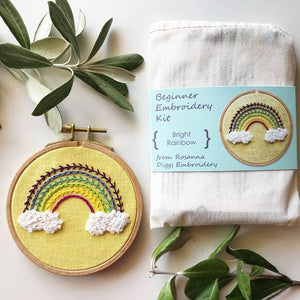 Rainbow Embroidery Kit, Complete Kit - Fire + Mineral