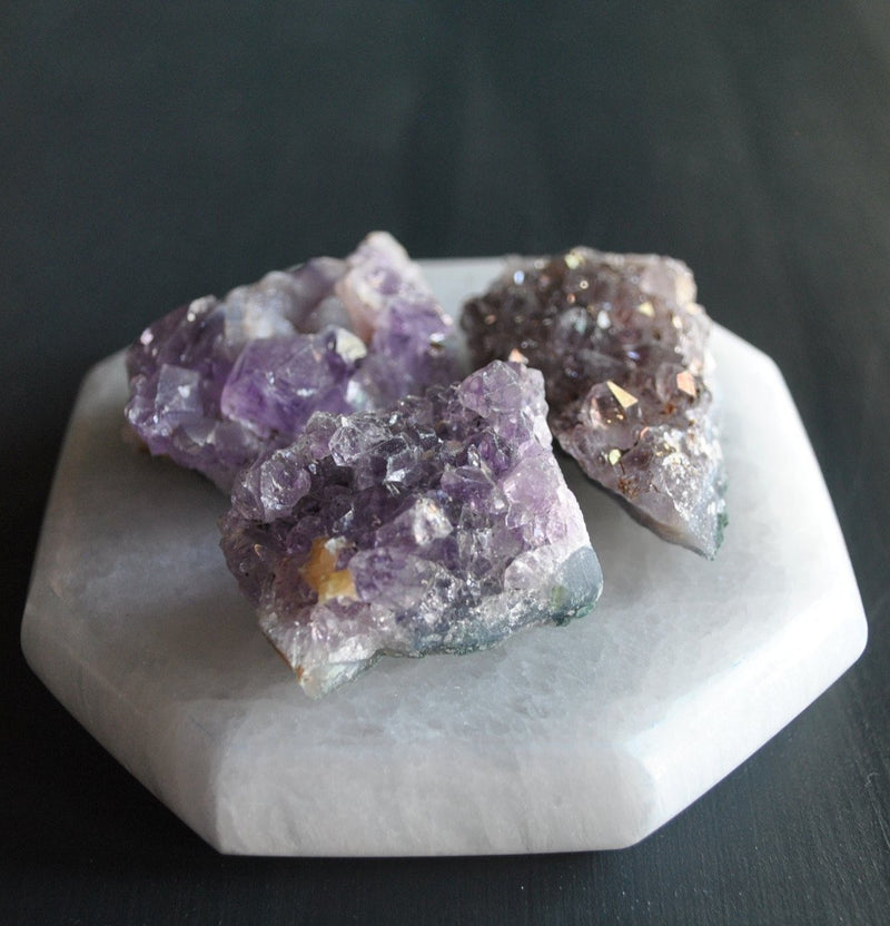 Reiki Charged Amethyst Crystal Cluster - Fire + Mineral