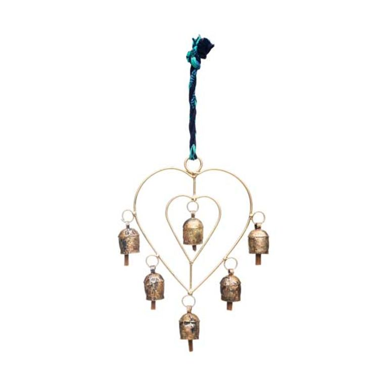 Sari Twist Heart Chime - Fire + Mineral