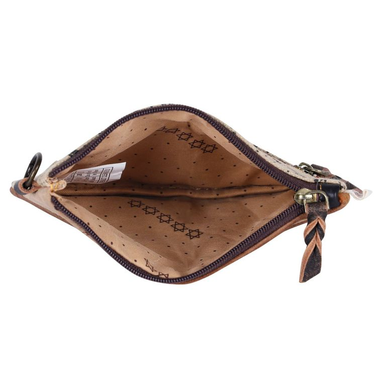 Small Pouch - Upcycled Genuine Leather - Fire + Mineral