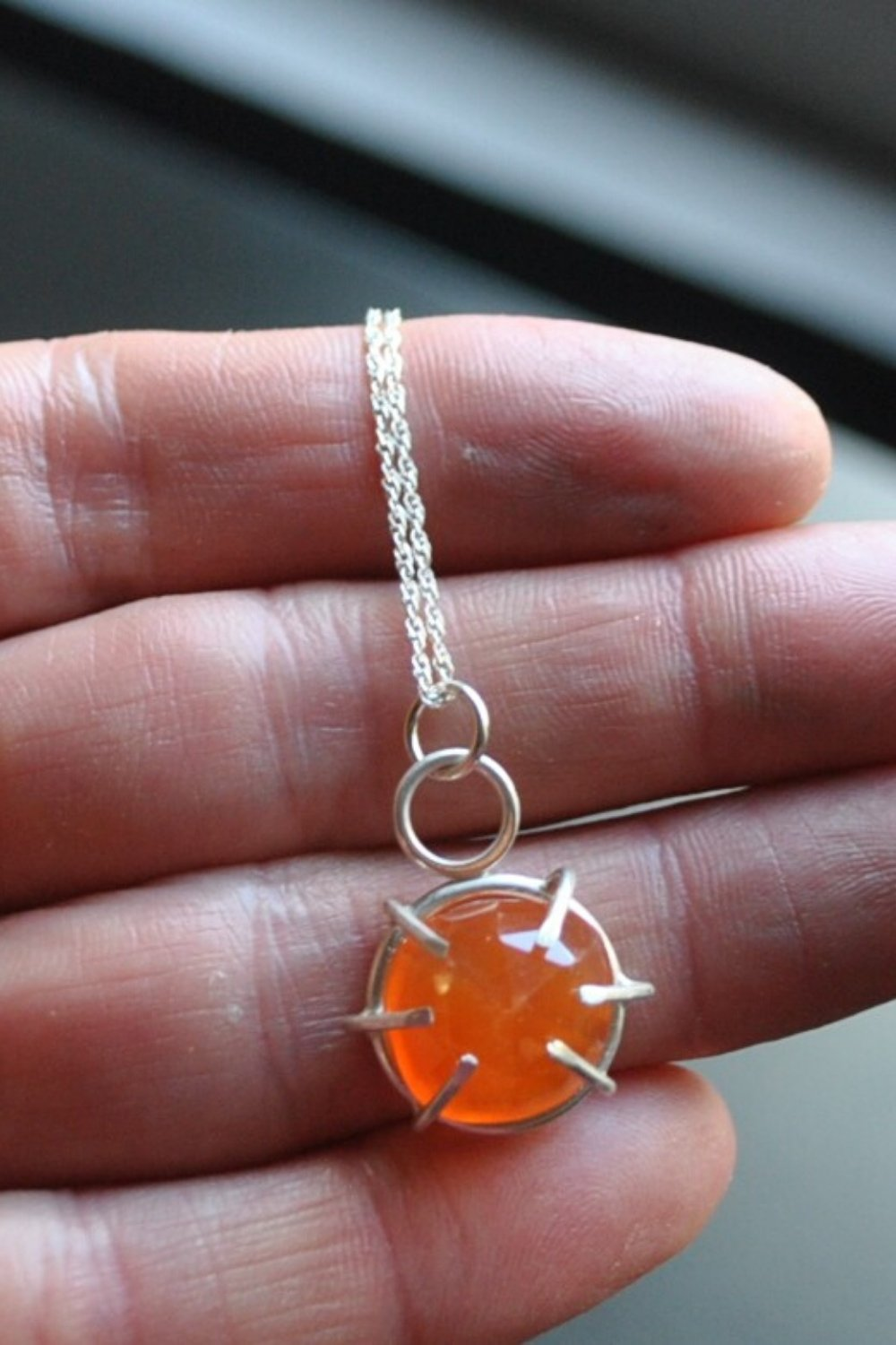 The Artist Necklace - Carnelian - Fire + Mineral