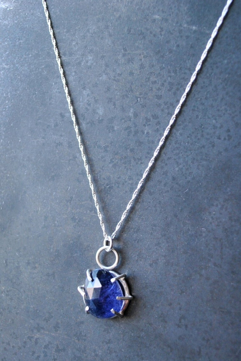 The Travelers Necklace - Iolite - Fire + Mineral