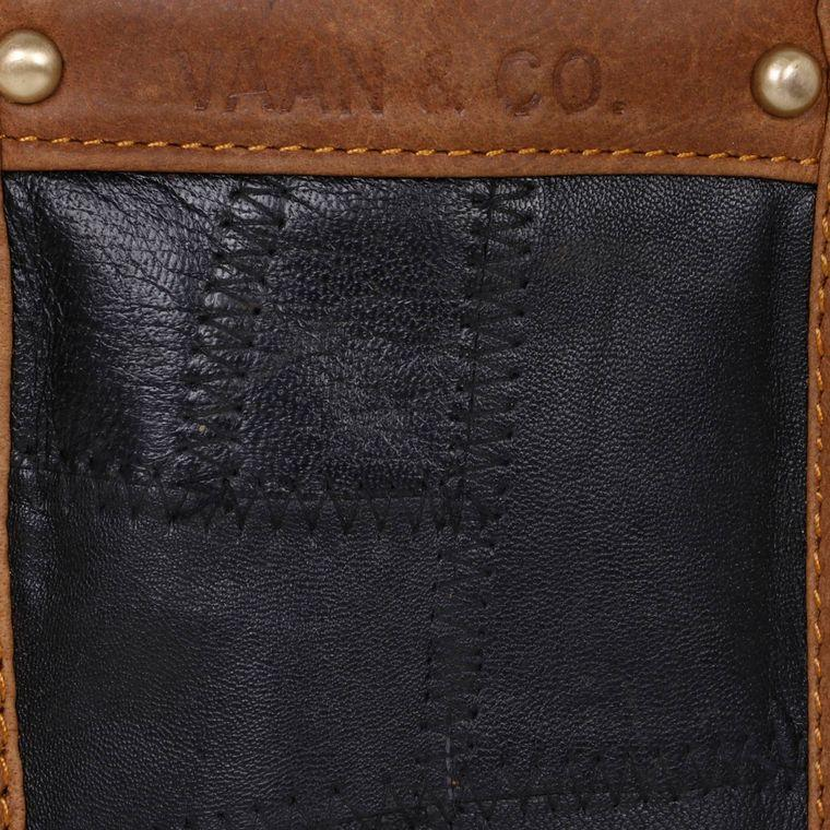 VB19E01-P3 - Upcycled Genuine Leather - Fire + Mineral