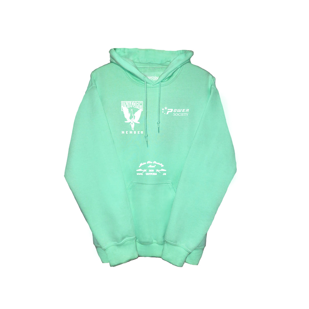 UNYFORM  MEMBER HOODIE MINT product_description .