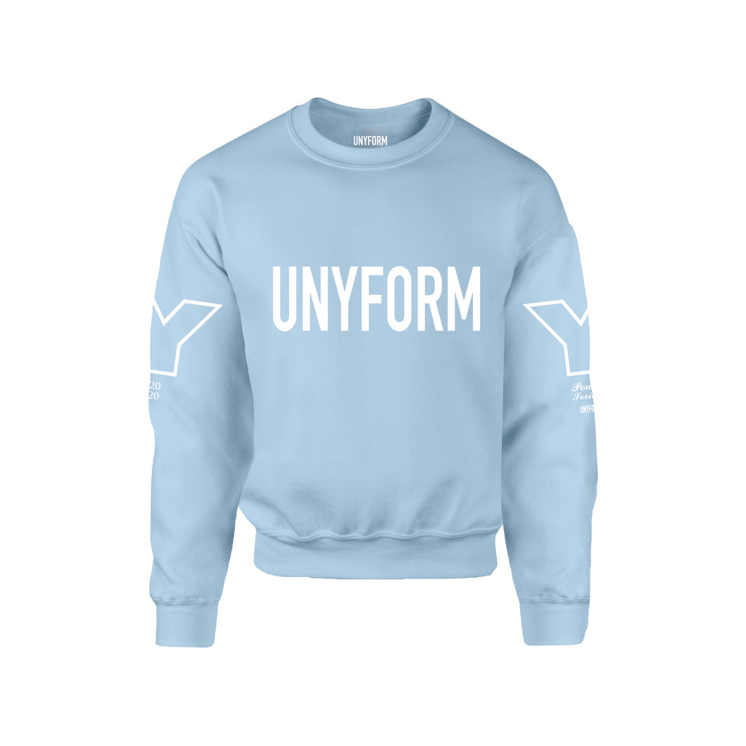 UNYFORM  BIG LOGO SWEATER BLUE product_description Sweater.