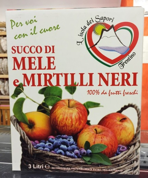 Succo di mela e mirtillo