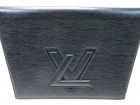 Auth Pre-owned Louis Vuitton Vintage Epi Black Noir Pochette Trapeze Gm Clutch Bag M80165 172367