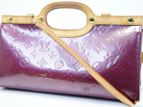Auth Pre-owned Louis Vuitton Vernis Violet Purple Roxbury Drive Hand Bag Strap 2-way M93569 180833