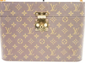 Authentic Pre-owned Louis Vuitton Monogram Train Case Cosmetic Vanity Trunk Case Bag M23570 210014