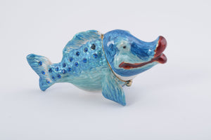 Blue Lady Fish Trinket Box
