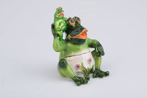 Mother Frog and Baby Frog - Trinket Box