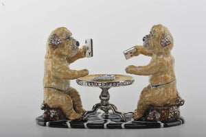 Dogs Playing Cards - Trinket Box