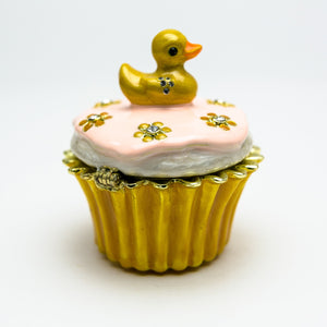 Duck on Cupcake Trinket Box