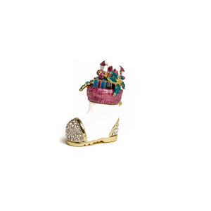 Decorated Christmas Shoe - Trinket Box