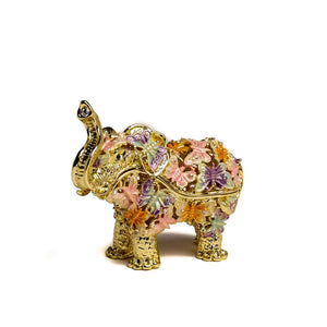 Elephant Decorated With butterflies - Trinket Box