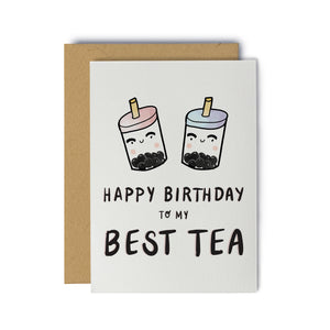 Happy Birthday to my Best Tea Birthday Greeting Card