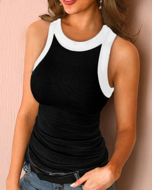 Sexy Sleeveless Vest Shirts Solid Tank Pullover Tops