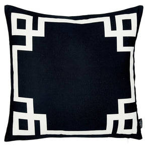 Geometric, Square Decorative Throw Pillow Cover