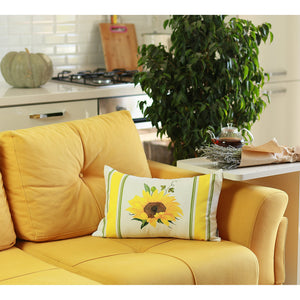 Sunflower Printed Decorative Pillow Cover