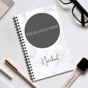 Logo Notebook - Marble Design