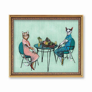Lady Cats Art Print
