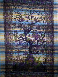 Heavenly Tree of Life Tapestries with Gorgeous Floral Designs