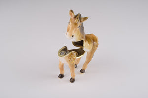 Brown Donkey Trinket Box