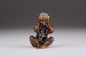 Brown Monkey Kikazaru Hear No Evil - Trinket Box