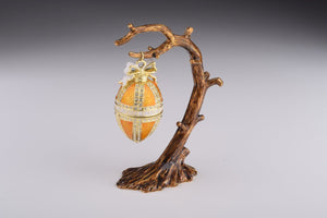 Russian Egg Hanging of a Tree Branch Trinket Box