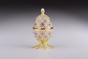Egg Shape Trinket Box with Clock Inside
