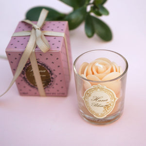 Small Votive White Rose Natural Wax Scented Candle with Jasmine
