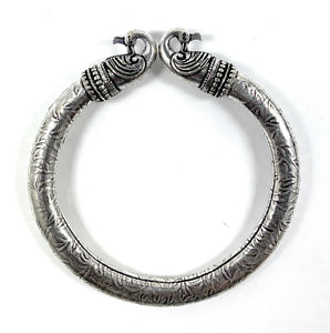 Antique Norse Peacock Head Viking Bracelet